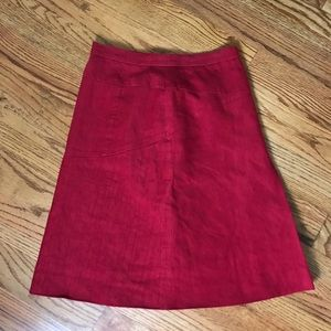 Moschino Red A Line Skirt